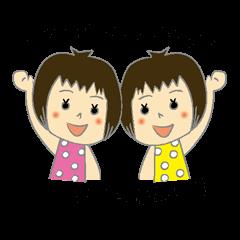 Twins Girls Sticker