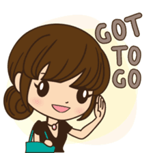 Anna in office version sticker #3580324