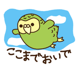 Happy Kakapo 2 sticker #3595839