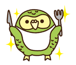 Happy Kakapo 2 sticker #3595848