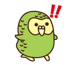 Happy Kakapo 2 sticker #3595855