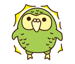 Happy Kakapo 2 sticker #3595858