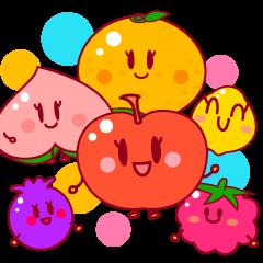 Cute fruits friends