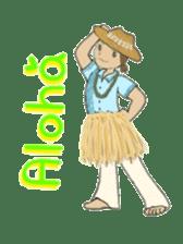 Aloha hula sticker #3602894