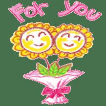 Happy Flower sticker #3606073