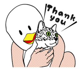 Funny bird and cat(ENG ver.) sticker #3610413