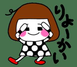 Her name is heeko. She is a pretty girl. sticker #3621675