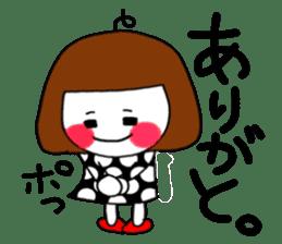 Her name is heeko. She is a pretty girl. sticker #3621679