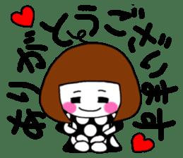 Her name is heeko. She is a pretty girl. sticker #3621680