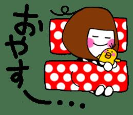 Her name is heeko. She is a pretty girl. sticker #3621701