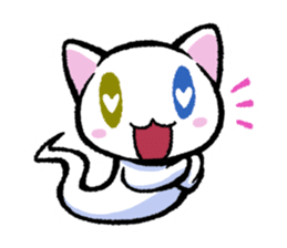 "The Ghost Cat ""Nyamochi"" sticker #3627311"