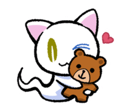 "The Ghost Cat ""Nyamochi"" sticker #3627312"