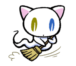 "The Ghost Cat ""Nyamochi"" sticker #3627317"