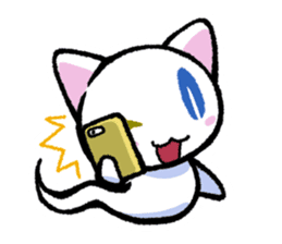 "The Ghost Cat ""Nyamochi"" sticker #3627322"