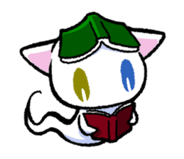 "The Ghost Cat ""Nyamochi"" sticker #3627326"