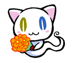 "The Ghost Cat ""Nyamochi"" sticker #3627327"