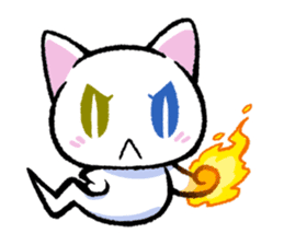 "The Ghost Cat ""Nyamochi"" sticker #3627340"