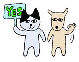 The Cat and Dog sticker #3630432