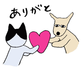 The Cat and Dog sticker #3630454