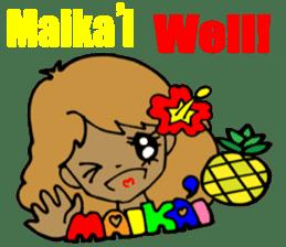 Hawaiian Family 5 Aloha Feeling2 English sticker #3635935