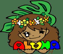 Hawaiian Family 5 Aloha Feeling2 English sticker #3635936