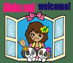 Hawaiian Family 5 Aloha Feeling2 English sticker #3635937