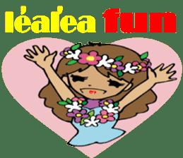 Hawaiian Family 5 Aloha Feeling2 English sticker #3635939
