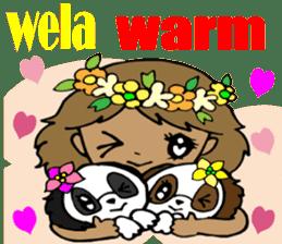 Hawaiian Family 5 Aloha Feeling2 English sticker #3635942