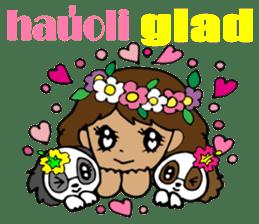 Hawaiian Family 5 Aloha Feeling2 English sticker #3635943