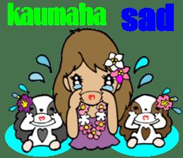 Hawaiian Family 5 Aloha Feeling2 English sticker #3635944