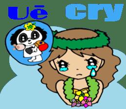 Hawaiian Family 5 Aloha Feeling2 English sticker #3635945