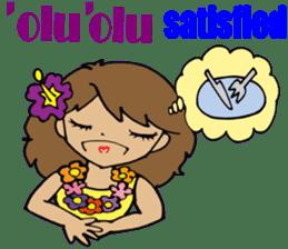 Hawaiian Family 5 Aloha Feeling2 English sticker #3635947
