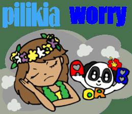 Hawaiian Family 5 Aloha Feeling2 English sticker #3635950