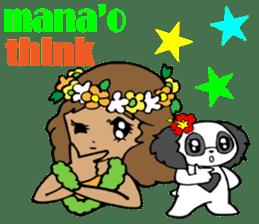 Hawaiian Family 5 Aloha Feeling2 English sticker #3635957