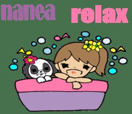 Hawaiian Family 5 Aloha Feeling2 English sticker #3635958