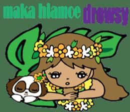 Hawaiian Family 5 Aloha Feeling2 English sticker #3635965