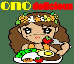 Hawaiian Family 5 Aloha Feeling2 English sticker #3635968