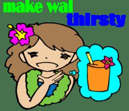 Hawaiian Family 5 Aloha Feeling2 English sticker #3635969