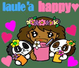 Hawaiian Family 5 Aloha Feeling2 English sticker #3635970