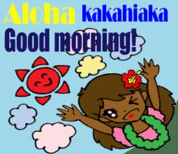 Hawaiian Family 5 Aloha Feeling2 English sticker #3635971
