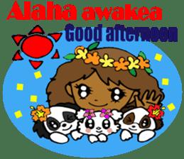 Hawaiian Family 5 Aloha Feeling2 English sticker #3635972