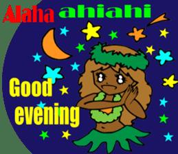 Hawaiian Family 5 Aloha Feeling2 English sticker #3635973
