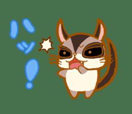 Kawaii!.Sticker of Flying squirrel sticker #3642349