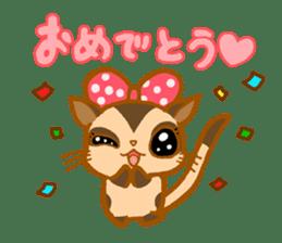 Kawaii!.Sticker of Flying squirrel sticker #3642355