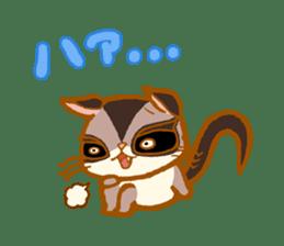 Kawaii!.Sticker of Flying squirrel sticker #3642357