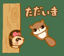 Kawaii!.Sticker of Flying squirrel sticker #3642362