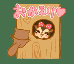 Kawaii!.Sticker of Flying squirrel sticker #3642363