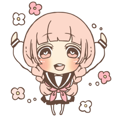Expressive cute girl