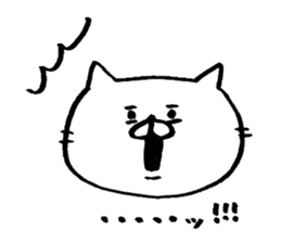 she is pretty white cat sticker #3656154