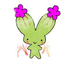 The strange and cute stamp of succulent sticker #3656471